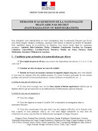 demande de naturalisation par mariage nanterre naturalisation par decret liste de pieces jan2012