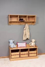 Entryway Bench With Storage And Coat Rack Amish Traditional Hanging Wall Shelf With Storage And Coat Hooks
