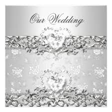 silver wedding invitations silver wedding invitations announcements zazzle