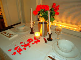 Room Decoration With Flowers And Candles Dining Room Impressive Romantic Dinner Table Design With Grey