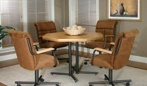 Kitchen Chairs On Wheels Swivel Dining Chair Rolling Dining Chairs Wonderful Dining Chairs With
