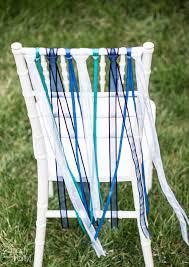 Diy Chair Sashes Diy Ribbon Chair Decor Smarty Had A Party Blog