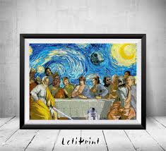 star wars starry night print star wars poster star wars the zoom