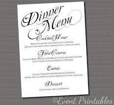 Elegant Dinner Party Menu Best 25 Rehearsal Dinner Menu Ideas On Pinterest Wedding