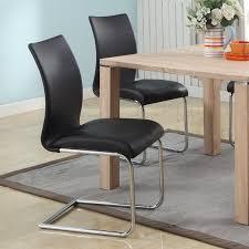 Lydia Black Leather Chrome Chairs K B Furniture Newton Black Dining Chair Set Of 4 Hayneedle
