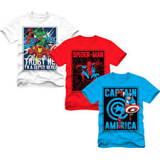 Marvel Super Heroes Clothing Marvel Superheroes Boys Graphic Tee Value 3 Pack Walmart Com