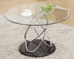 glass living room table sets furniture awesome round metal glass coffee table with furry natural