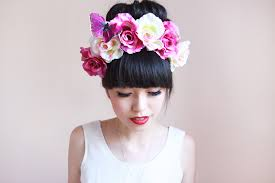 flower hairband white flower racing fascinator races
