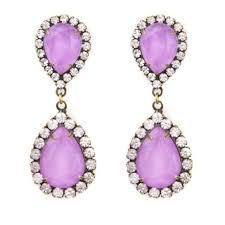 gaudy earrings 37 loren jewelry loren abba earrings in lilac