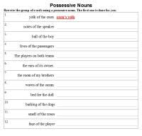 possessive nouns activities worksheets printables and lesson