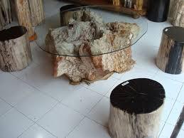 tree stump coffee table creative tree stump coffee table