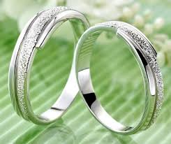 sterling silver wedding gifts matching engraved promise rings for couples unique wedding gifts