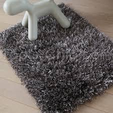 tapis shaggy tapis shaggy gris beige par arte espina
