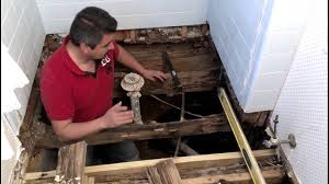 How To Dry Wet Wood Floors How To Repair A Bathroom Floor Structure Youtube