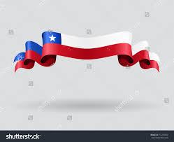 Chilian Flag Chilean Flag Wavy Abstract Background Vector Stock Vector