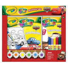 crayola mess free color wonder activity set cars crayola