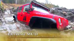 land rover mud rescue stuck in the mud u2014 rc jeep wrangler rubicon vs land rover