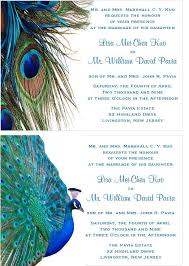 peacock invitations peacock wedding bridal baby birthday invitations pavia party favors