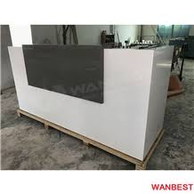 Portable Reception Desk Cheap Artificial Marble Acrylic Wood Small Portable Office Hair