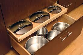 kitchen cabinet door pot and pan lid rack organizer storage dura supreme cabinetry pot lid storage diy