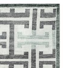 White Grey Rug Silk U0026 Wool Rugs Williams Sonoma