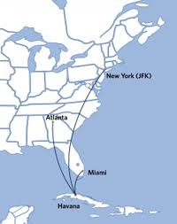 Delta Airlines Route Map by Three Routes Between Havana Cuba And The United States Awarded To