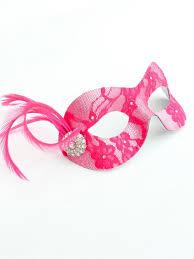 pink masquerade masks handmade hot pink silver lace masquerade mask