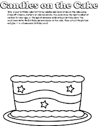 candles on the cake coloring page crayola com