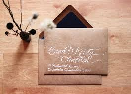 calligraphy invitations wedding invitations calligraphy wedding stationery kraft
