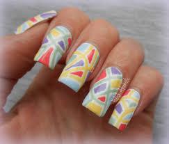 beautiful mosaic nail art design by gaudi