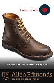 s boots usa giveaway s boots stylish and hardworking from allen edmonds