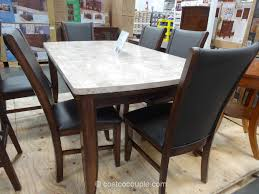 costco dining room sets enchanting white rectangle industrial marble costco dining table
