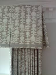 inverted pleat valance with typical return and pretty hem detail