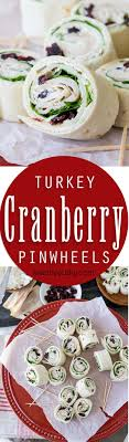 these turkey cranberry pinwheels are filled with a