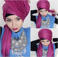tutorial hijab pesta 2 kerudung tutorial hijab turban simpel dengan pashmina ala hijabers rusia
