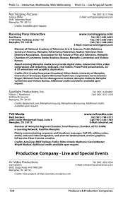 the bureau production company shelby county tv commission production directory 2012