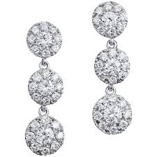 white gold dangle earrings 1 38 carat diamond white gold dangle earrings for sale at 1stdibs