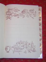 cahier de cuisine à remplir cahier de cuisine recipes copybook biblebroderie