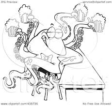 beer cartoon black and white royalty free rf clip art illustration of a cartoon black and
