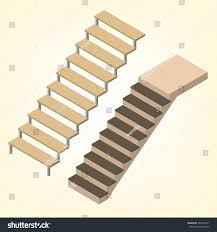 flight stairs isolated on white background stock vector 563475697