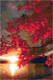 home decoration pdf cross stitch lake sunset pattern design chart outdoor scenery