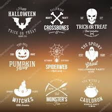 vintage typography halloween vector badges or logos pumpkin ghost