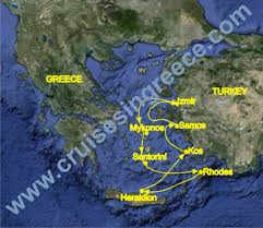 Greece Islands Map by 8 Day Cruise To Greek Islands And Izmir Departure From Heraklion