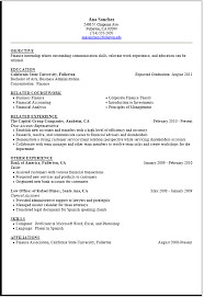 Resume Samples Finance by 10 Writing A Summer Job Resume Resume Summer Job Resume For