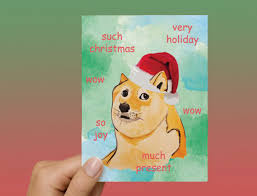 So Doge Meme - doge meme christmas card