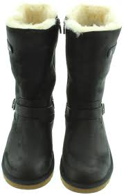 ugg australia kensington boots sale ugg leather kensington sheepskin boots in black in black