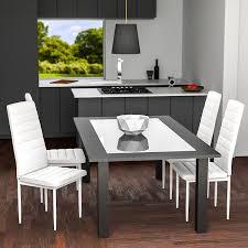 sedia sala da pranzo tectake set di 4 sedie per sala da pranzo 41x45x98 5cm bianco