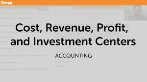 cost revenue profit and investment centers accounting chegg