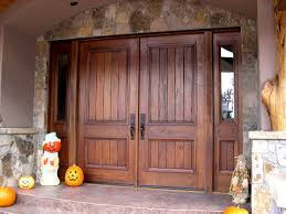Wooden Exterior French Doors by Exterior Double Rustic Exterior Entrance Door With Solid Dark