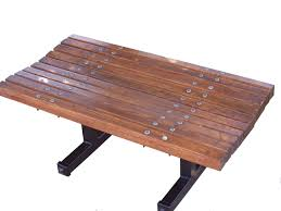 Wooden Park Bench Contoured Backless Wooden Bench Wood Park Benches